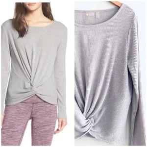 Zella | Knot A Chance Sweater Heather Gray Large